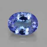 thumb image of 3.1ct Oval Facet Violet Blue Tanzanite (ID: 412118)