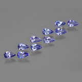 thumb image of 1.5ct Pear Facet Violet Blue Tanzanite (ID: 412451)