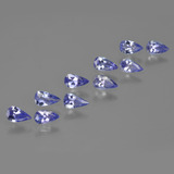 thumb image of 1.7ct Pear Facet Violet Blue Tanzanite (ID: 412454)