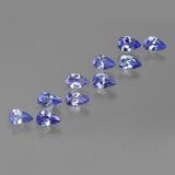 thumb image of 2.4ct Pear Facet Violet Blue Tanzanite (ID: 412457)