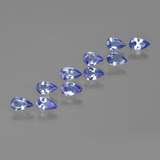 thumb image of 0.2ct Pear Facet Intense Violet Blue Tanzanite (ID: 412459)