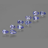 thumb image of 2.1ct Pear Facet Violet Blue Tanzanite (ID: 412461)