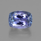 thumb image of 4.3ct Coussin-coupe Bleu violet intense Tanzanite (ID: 412522)