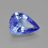 3.10 ct Pear Facet Violet Blue Tanzanite Gem 11.72 mm x 8.5 mm (Photo B)