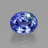 thumb image of 4.2ct Oval Facet Violet Blue Tanzanite (ID: 412526)