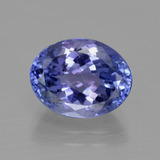 thumb image of 4ct Oval Facet Violet Blue Tanzanite (ID: 412529)