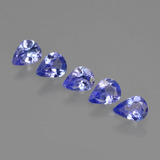 thumb image of 1.2ct Pear Facet Violet Blue Tanzanite (ID: 412924)