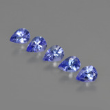 thumb image of 1.3ct Pear Facet Violet Blue Tanzanite (ID: 412926)