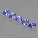 thumb image of 1.3ct Pear Facet Violet Blue Tanzanite (ID: 412927)