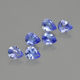 thumb image of 1.7ct Pear Facet Violet Blue Tanzanite (ID: 412989)