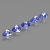 0.24 ct Pear Facet Violet Blue Tanzanite Gem 4.93 mm x 3.7 mm (Photo B)