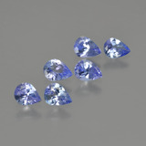 thumb image of 1.5ct Pear Facet Violet Blue Tanzanite (ID: 413375)