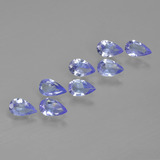 thumb image of 1.5ct Pear Facet Violet Blue Tanzanite (ID: 413538)