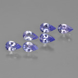 thumb image of 1.2ct Pear Facet Violet Blue Tanzanite (ID: 413621)