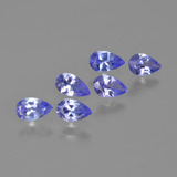 thumb image of 1.3ct Pear Facet Violet Blue Tanzanite (ID: 413622)