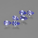 thumb image of 1.3ct Pear Facet Violet Blue Tanzanite (ID: 413624)