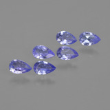 thumb image of 1.1ct Pear Facet Violet Blue Tanzanite (ID: 413627)