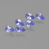 thumb image of 0.2ct Pear Facet Violet Blue Tanzanite (ID: 413630)