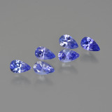 thumb image of 1.7ct Pear Facet Violet Blue Tanzanite (ID: 414471)