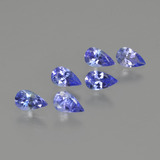 thumb image of 1.4ct Pear Facet Violet Blue Tanzanite (ID: 414474)
