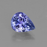 thumb image of 2.4ct Pear Facet Violet Blue Tanzanite (ID: 415421)