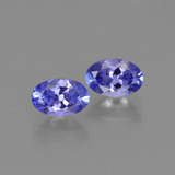thumb image of 1.2ct Oval Facet Violet Blue Tanzanite (ID: 415607)