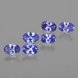 thumb image of 3ct Oval Facet Violet Blue Tanzanite (ID: 416585)