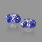 thumb image of 1.1ct Oval Facet Violet Blue Tanzanite (ID: 417105)