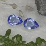 thumb image of 1.1ct Pear Facet Violet Blue Tanzanite (ID: 419492)