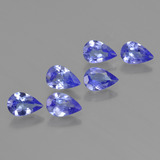 thumb image of 2.1ct Pear Facet Violet Blue Tanzanite (ID: 419524)
