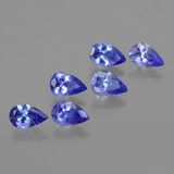thumb image of 2.4ct Pear Facet Violet Blue Tanzanite (ID: 419528)