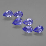 thumb image of 2.3ct Pear Facet Violet Blue Tanzanite (ID: 420100)