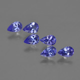 thumb image of 2.4ct Pear Facet Violet Blue Tanzanite (ID: 420219)