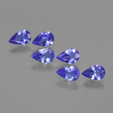 thumb image of 2ct Pear Facet Violet Blue Tanzanite (ID: 420220)