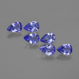 thumb image of 2.1ct Pear Facet Violet Blue Tanzanite (ID: 420229)