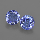 thumb image of 1.9ct Round Facet Violet Blue Tanzanite (ID: 420311)