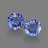 thumb image of 2.1ct Round Facet Violet Blue Tanzanite (ID: 420315)