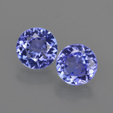 thumb image of 2.2ct Round Facet Violet Blue Tanzanite (ID: 420316)