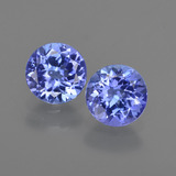 thumb image of 2ct Round Facet Violet Blue Tanzanite (ID: 420319)
