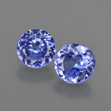 thumb image of 2ct Round Facet Violet Blue Tanzanite (ID: 420320)