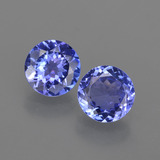 thumb image of 1.9ct Round Facet Violet Blue Tanzanite (ID: 420321)