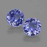 thumb image of 2.1ct Round Facet Violet Blue Tanzanite (ID: 420349)