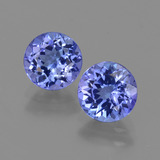 thumb image of 2ct Round Facet Violet Blue Tanzanite (ID: 420356)