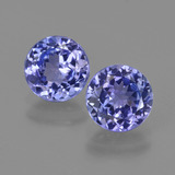 thumb image of 2.1ct Round Facet Violet Blue Tanzanite (ID: 420357)