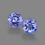 thumb image of 2.1ct Round Facet Violet Blue Tanzanite (ID: 420363)