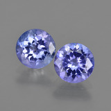 thumb image of 2.2ct Round Facet Violet Blue Tanzanite (ID: 420365)