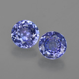 thumb image of 2ct Round Facet Violet Blue Tanzanite (ID: 420368)
