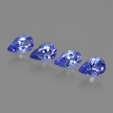 thumb image of 1.6ct Pear Facet Violet Blue Tanzanite (ID: 420436)