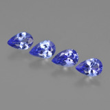 thumb image of 1.7ct Pear Facet Violet Blue Tanzanite (ID: 420442)