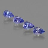 thumb image of 2.1ct Pear Facet Violet Blue Tanzanite (ID: 420693)